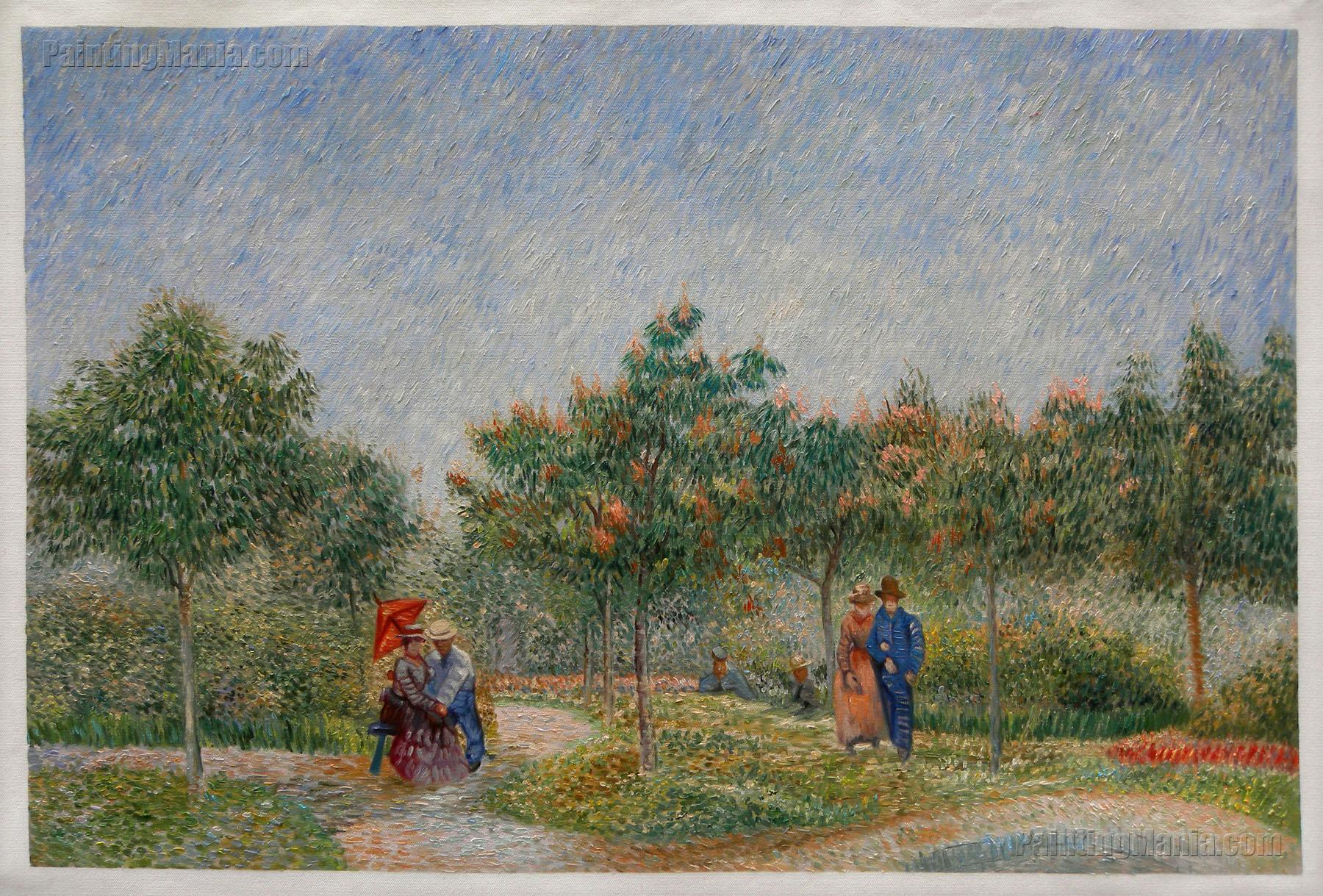 Courting Couples in the Voyer d'Argenson Park at Asnieres
