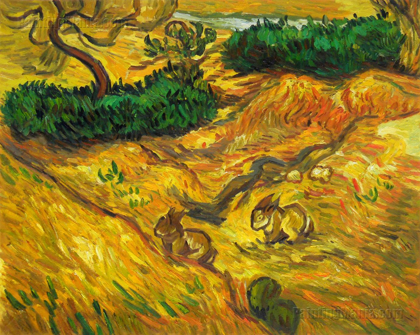 Field with Two Rabbits