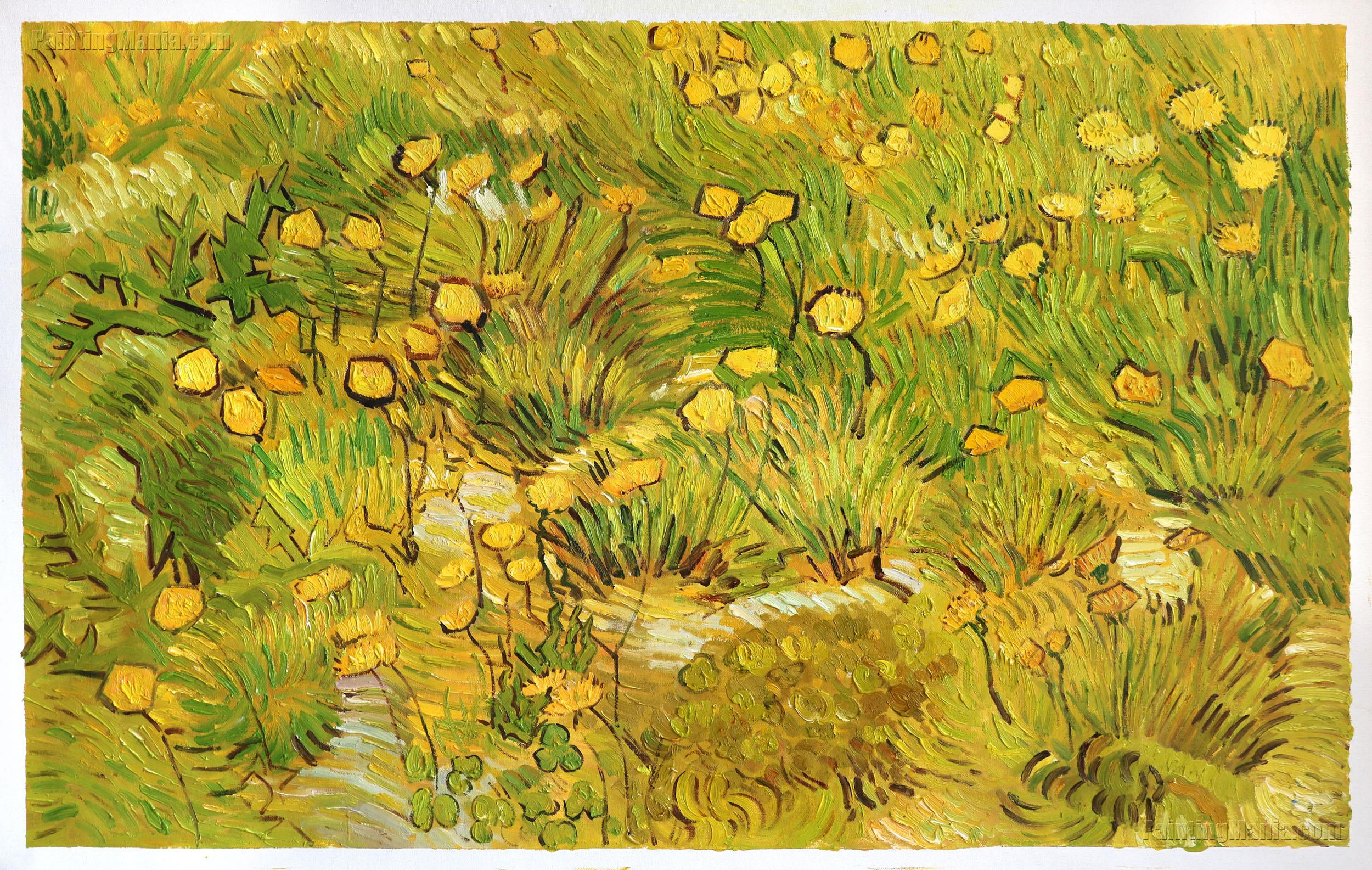 A field of yellow flowers vincent van gogh paintings a field of yellow flowers mightylinksfo