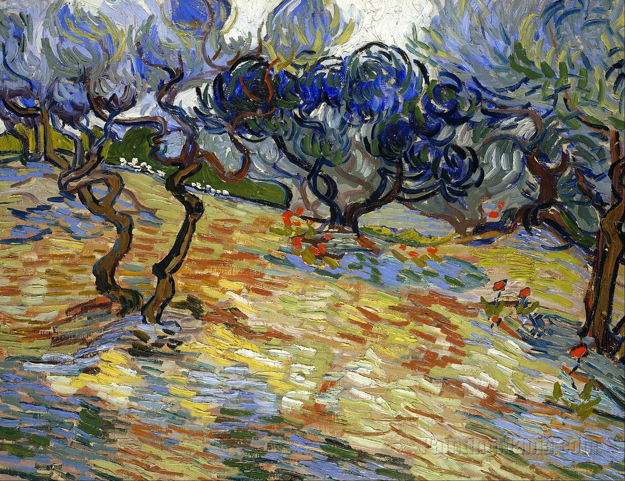 The Garden of Gethsemane on the Mount of Olives - Vincent van Gogh Paintings