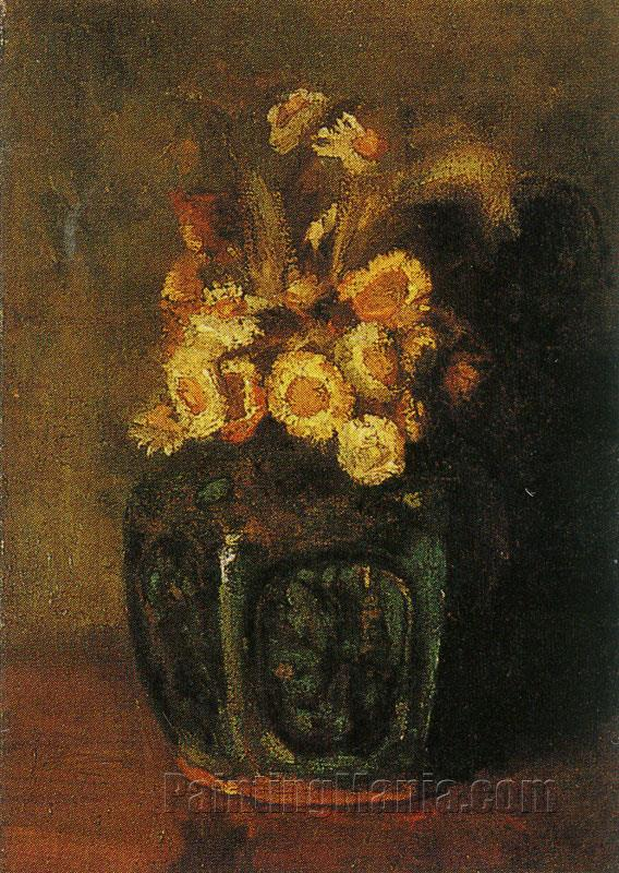 Ginger Jar with Daisies