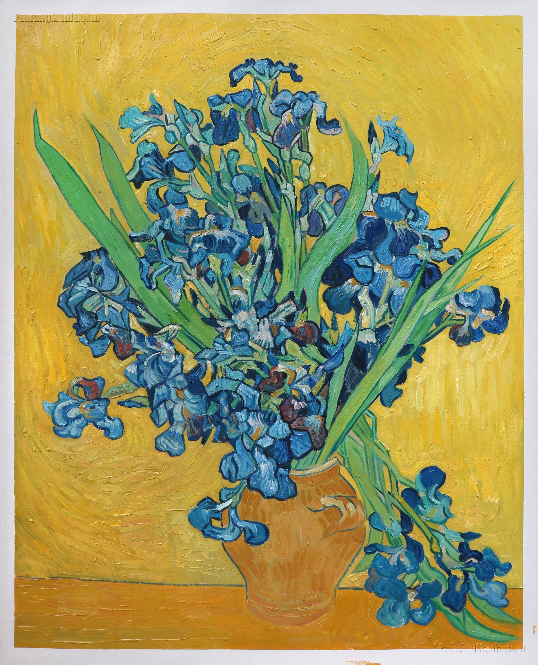 Irises amsterdam vincent van gogh paintings for Van gogh irises