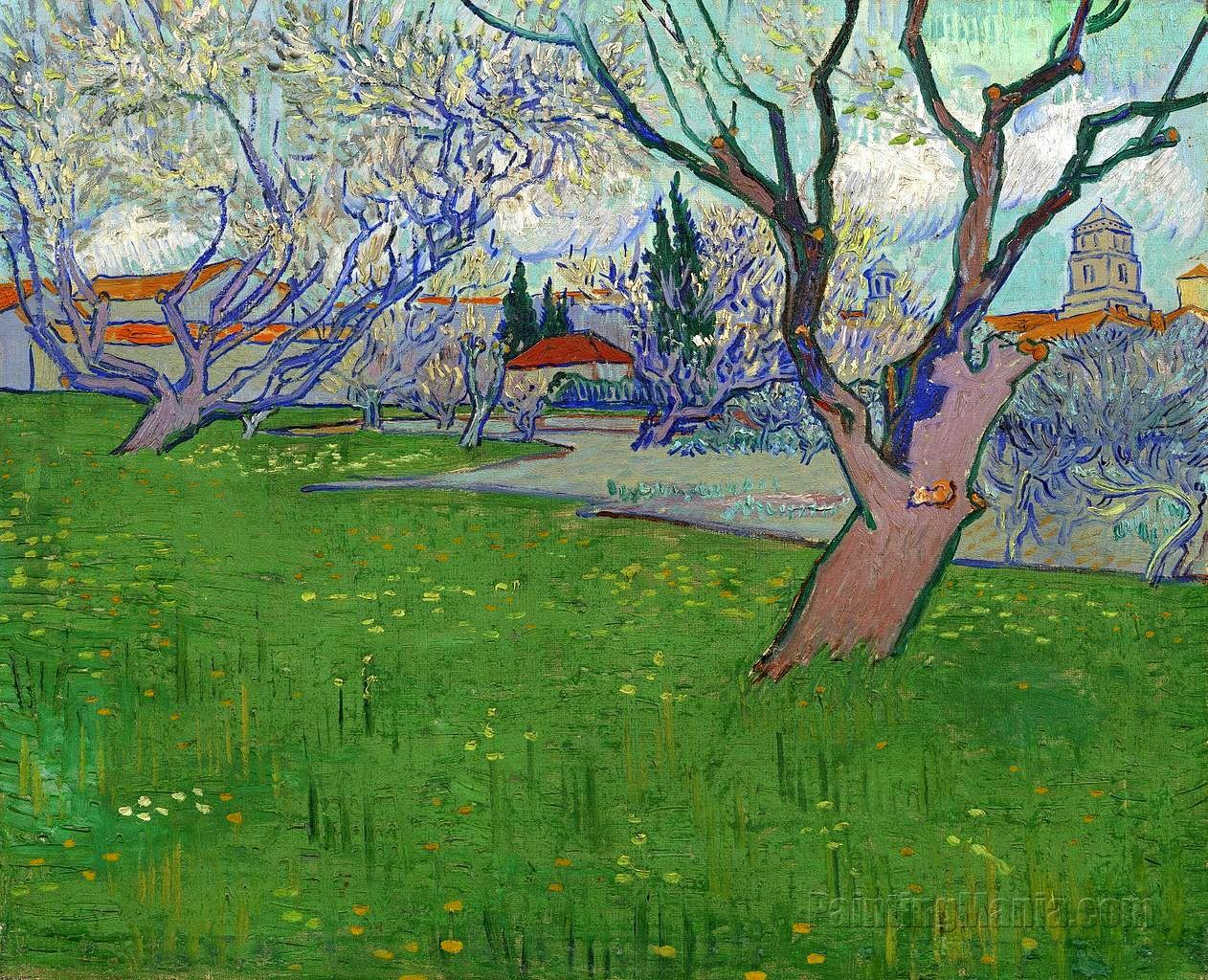 the flowering orchard by vincent van Vincent van gogh - the flowering orchard, 1888 vincent van gogh - the flowering orchard, 1888 vincent van gogh - the flowering orchard, 1888.