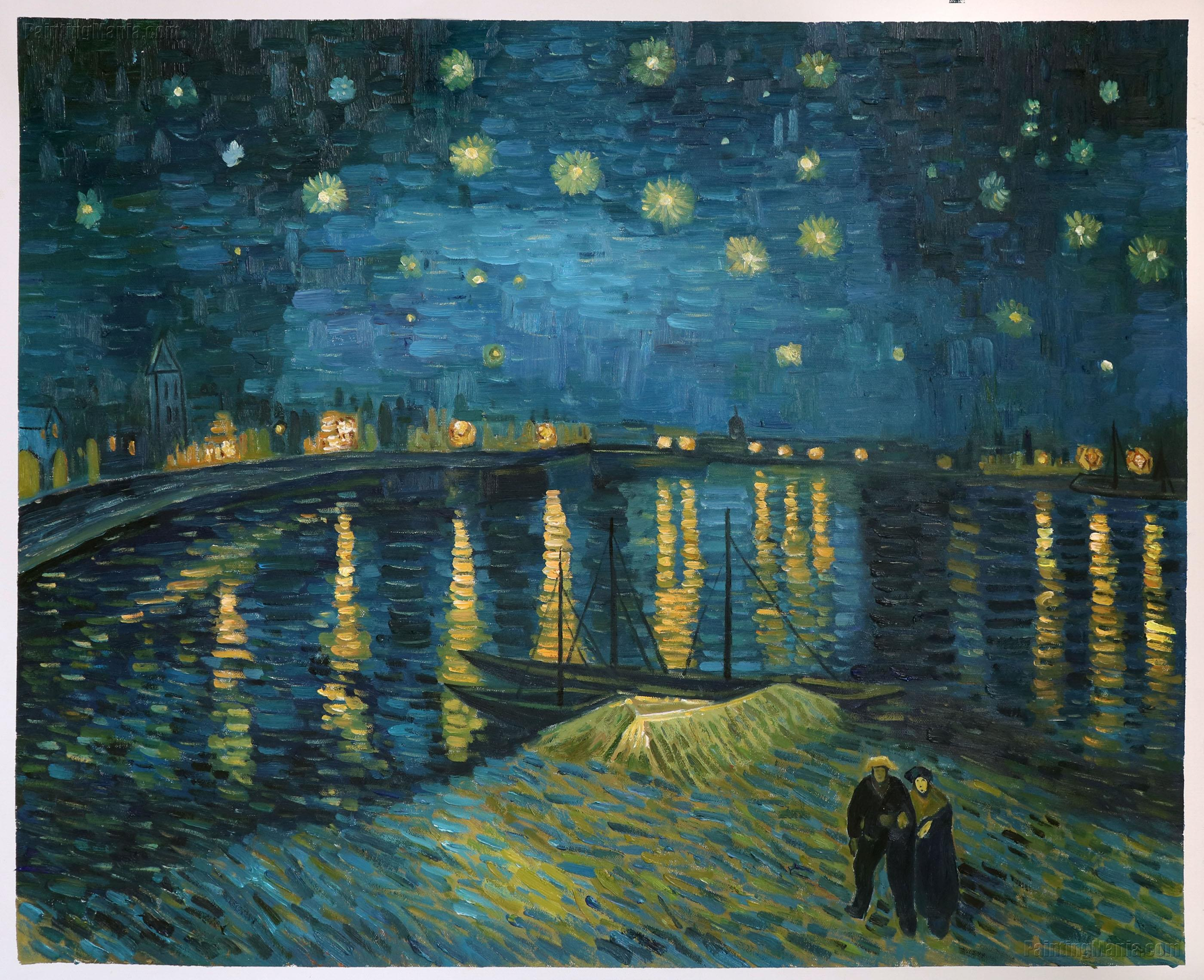starry night over the rhone by Freeart provides free 8x10 inch prints free art print of starry night over the rhône by vincent van gogh.