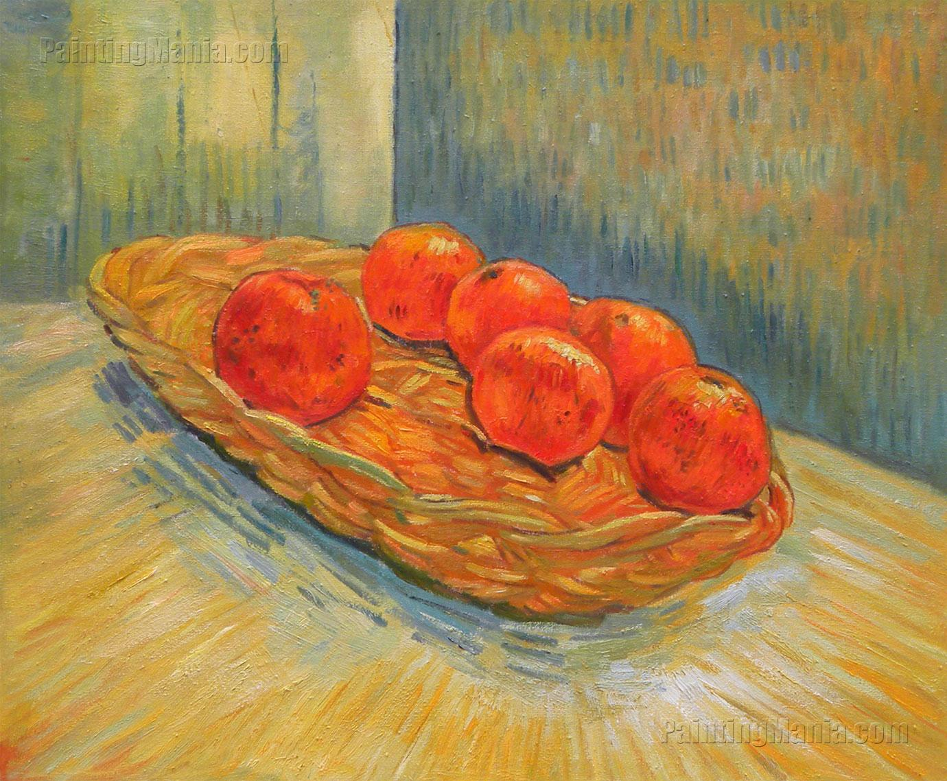 Still Life with Basket of Six Oranges