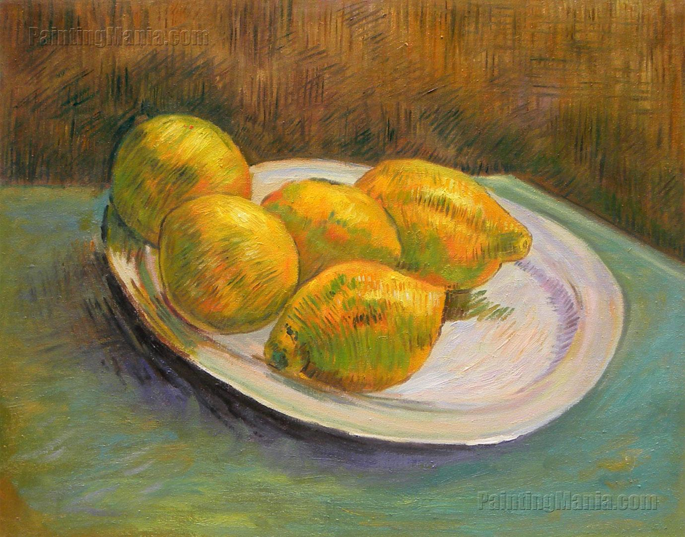 still life with lemons on a plate vincent van gogh paintings. Black Bedroom Furniture Sets. Home Design Ideas