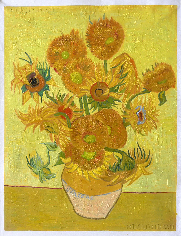 how to draw sunflowers like van gogh
