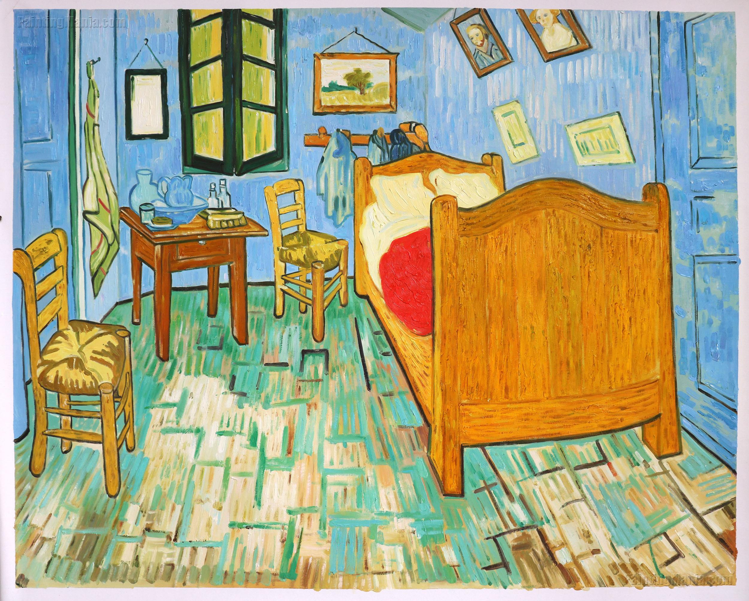 Vincent\'s Bedroom in Arles 1889 - Vincent van Gogh Paintings