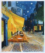 Cafe Terrace on the Place du Forum. Arles. at Night