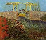 The Langlois Bridge at Arles with Women Washing 1888