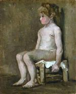 Nude Girl, Seated