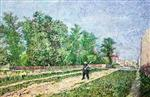 On the Outskirts of Paris (Road with Peasant Shouldering a Spade)