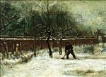 The Parsonage Garden at Nuenen in the Snow 1885