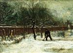 The Parsonage Garden at Nuenen in the Snow 1885