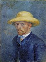 Self-Portrait with Straw Hat 1887