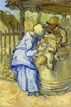 Sheep-Shearers (after Millet)