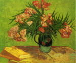 Still Life - Vase with Oleanders and Books