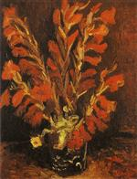 Vase with Red Gladioli 1886