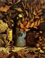 Vase with Wilted Leaves