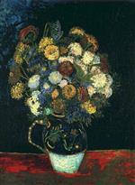 Vase with Zinnias 1888