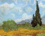 Wheat Field with Cypresses at the Haude Galline near Eygalieres 1889