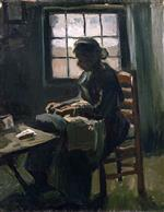 Woman Sewing 1885