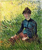 Woman Sitting in the Grass (Woman in a Field of Wheat)