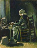 Woman Winding Yarn