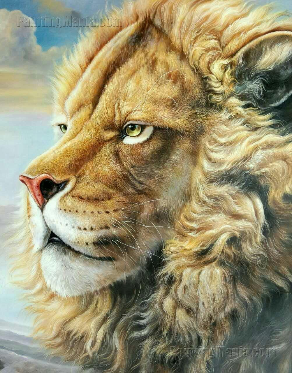 Majestic Lion Head