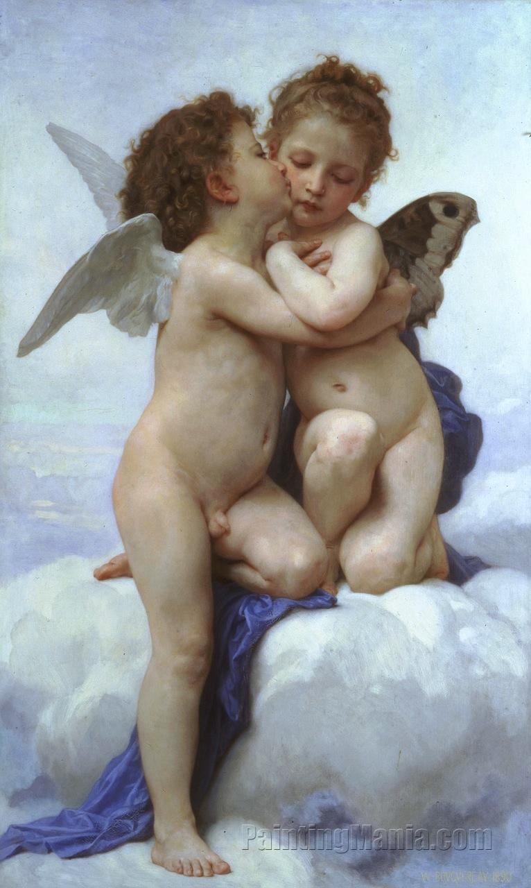 cupid and psyche as children william adolphe bouguereau paintings