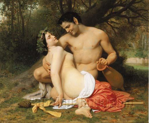 Faun and Bacchante