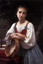 Basque Gypsy Girl with a Tambourine