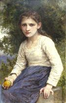 Girl with an Apple