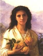 Girl Holding Lemons