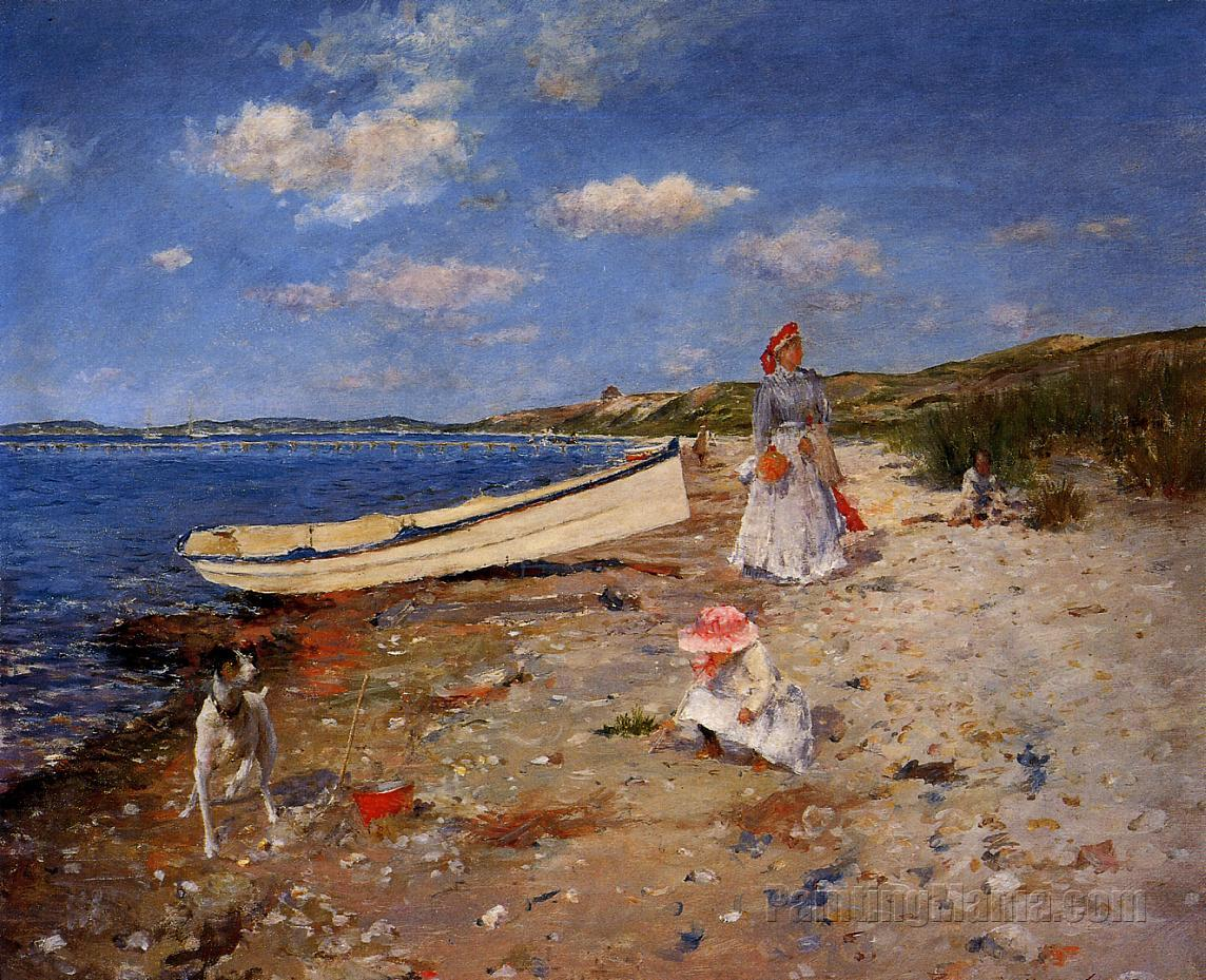 Sunny Day at Shinnecock Bay - William Merritt Chase Paintings