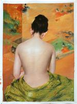 Back of a Nude (Study of Flesh Color and Gold)