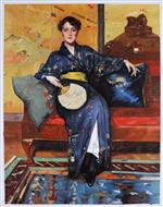 The Blue Kimono (Girl in Blue Kimono)