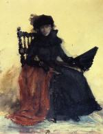 A Lady in Black (The Red Shawl)