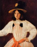 The Red Sash (Portrait of the Artist's Daughter)