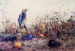 Among the Vegetables (Boy in a Cornfield)