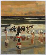 Beach Scene (Children in the Surf)